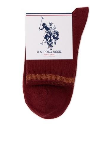 U.S. Polo Assn. Çorap Bordo